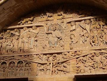 Iglesia abacial de Saint-Foy de Conques.Francia