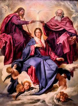 Coronación de la Virgen. Velázquez. Museo del Prado
