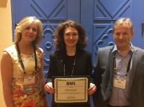 Amanda Folck receiving the STMA Gary Vanden Burg Internship Grant