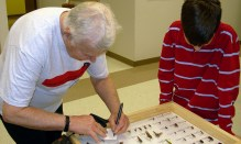 Chuck Triplehorn with young entomologist. 2006