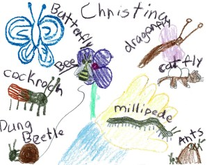 Art work produced by a young visitor in 2013.