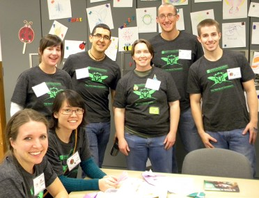 Grad student volunteers from the Dept. of Entomology.