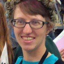 Stephanie Malinich with bird crown
