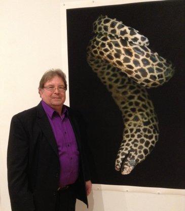 Fredrik Marsh with Moray Eel