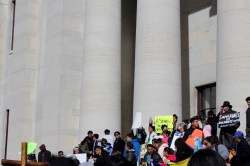 Photos from Un día sin inmigrantes, Thursday, February 16, 2017. Rubén Castilla Herrera spoke to the many Latina/o/xs outside of the Ohio Statehouse along with other notable speakers.