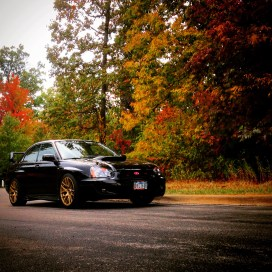 Orlando's car is a 2004 Subaru WRX that runs on E85 or 85% Ethanol fuel.