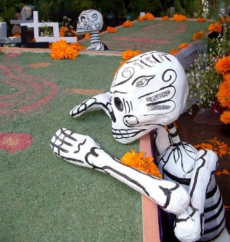 "Calavera, or skeleton a the Day of the Dead celebration (An ""ofrenda"" or offering from the Day of the Dead Celebration. (Photo courtesy Latino Arts for Humanity)"