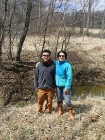 Andrea and Yohei at Coshocton field site