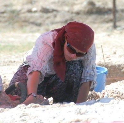 Katryn in a excavation in Turkey