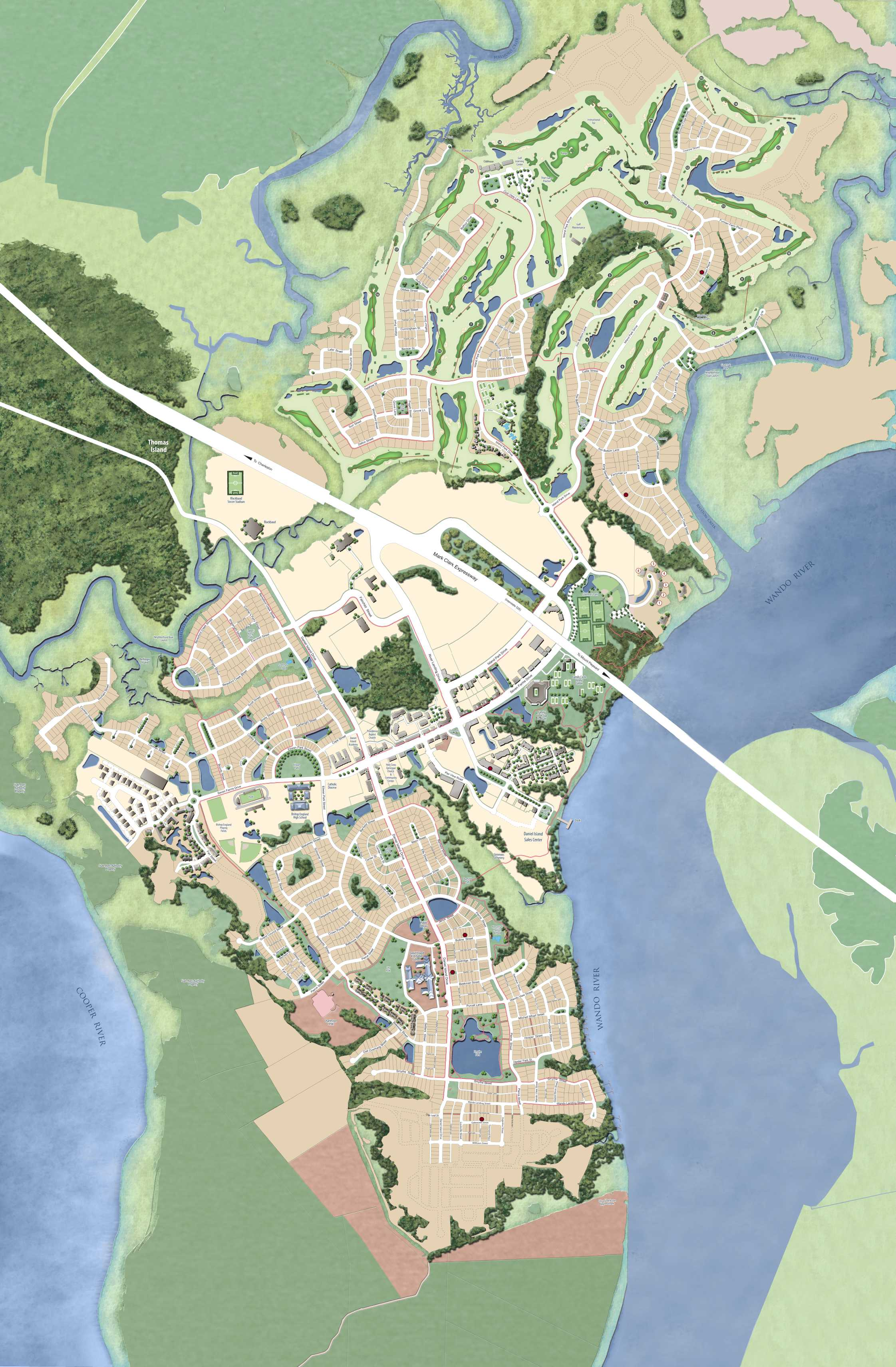 Charleston Zip Code Map : charleston, Daniel, Island, South, Carolina, Estate, Homes