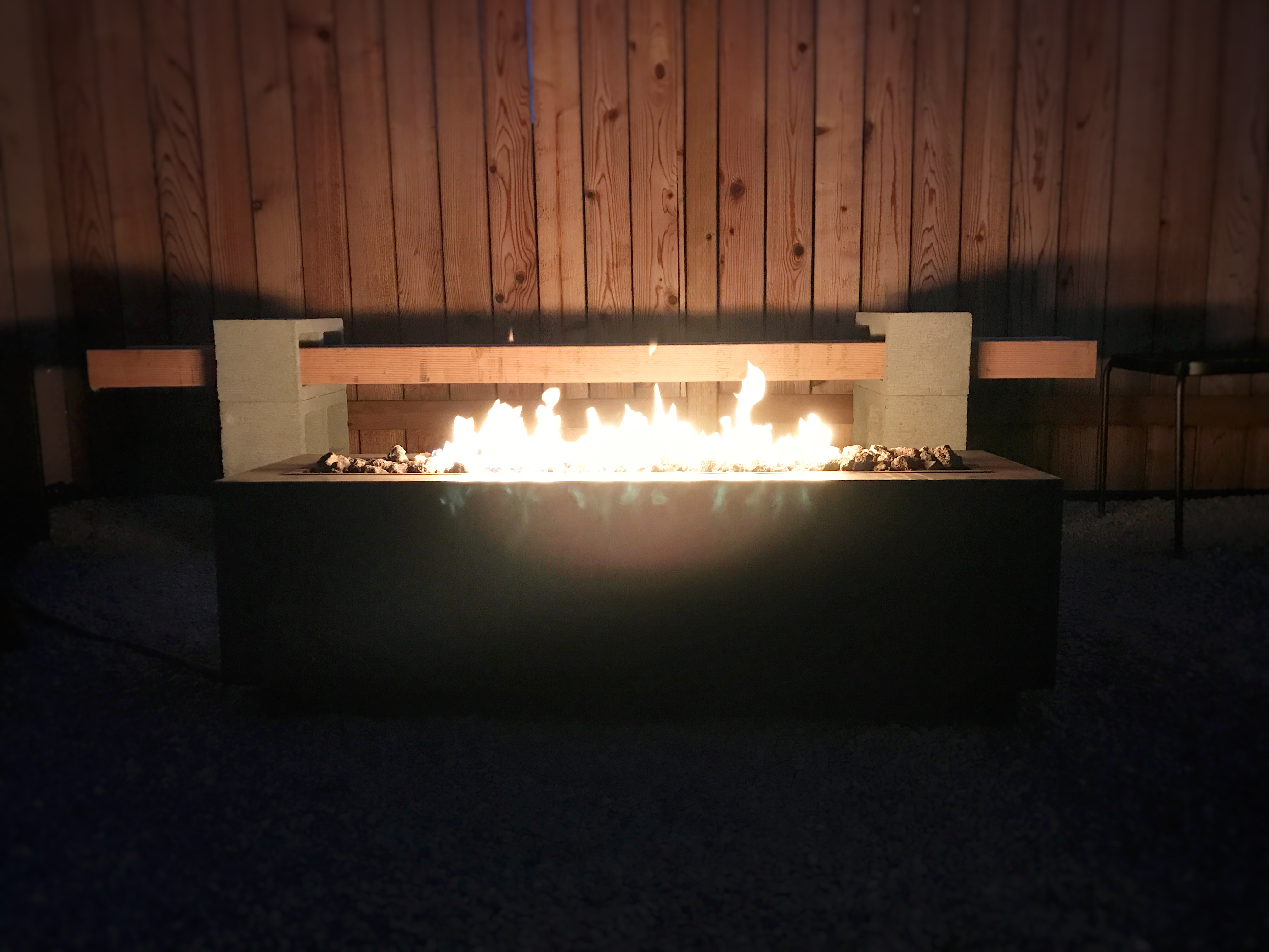 Product image of endless summer decorative 30 outdoor gas fire pit table with cover. SIMPLE DIY BACKYARD MAKEOVER (PEA GRAVEL PATIO & FIRE PIT