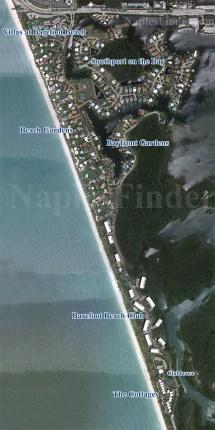 Map of Barefoot Beach Bonita Springs FL
