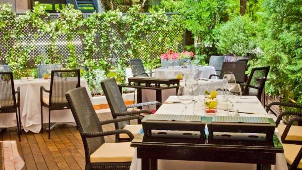 Terraza del restaurante Tse Yang. Hotel Villamagna. Madrid