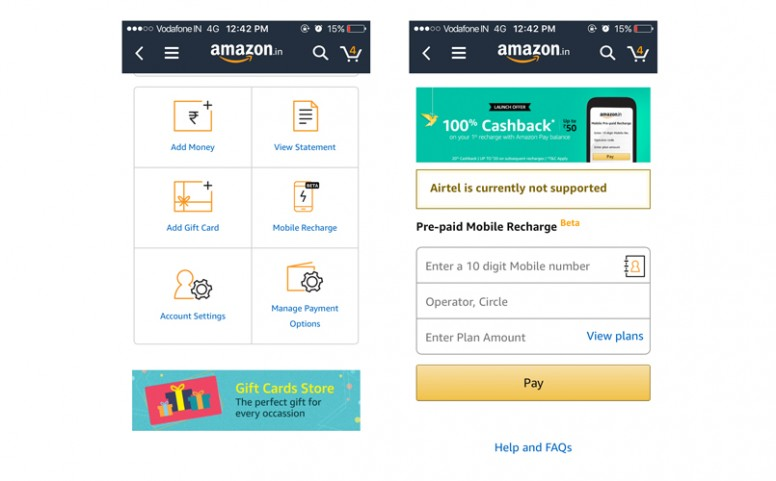 You Can Now Recharge Your Mobiles Using Your Amazon Pay Balance : This Is How It Works !!
