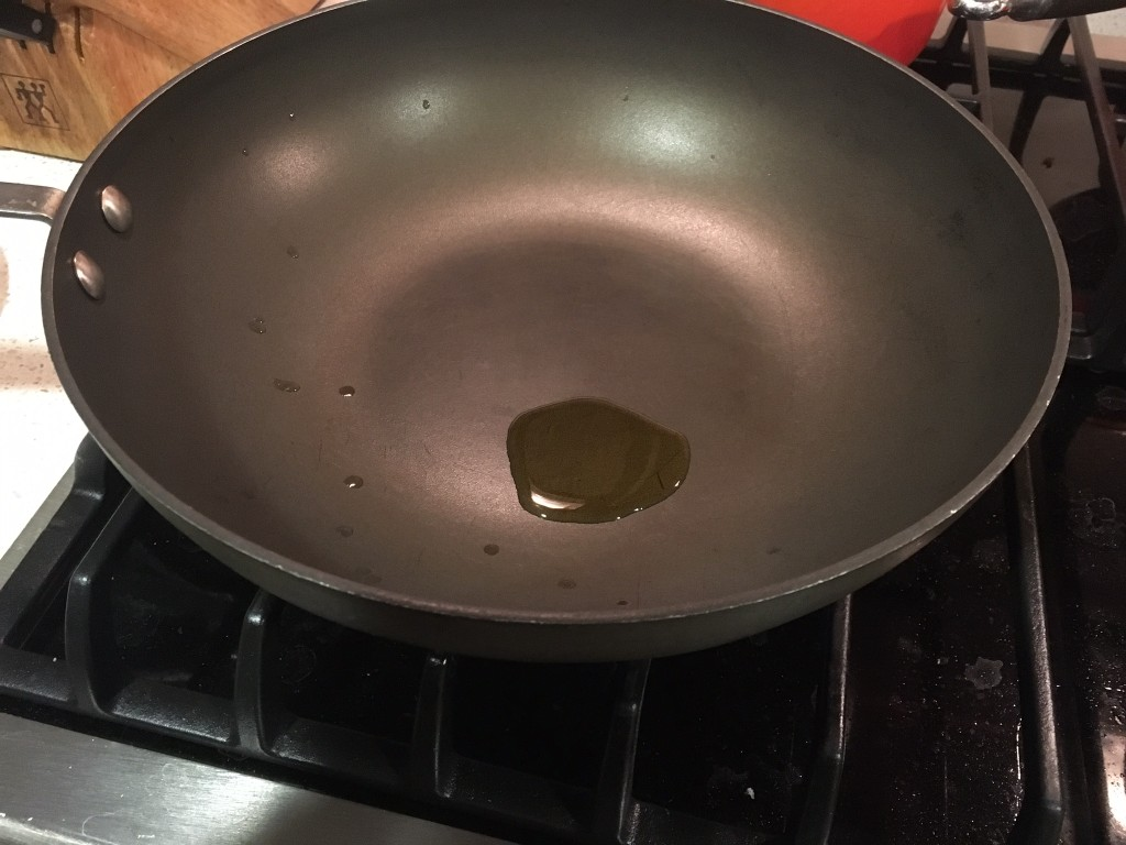 Pan with olive oil