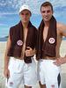 Die Beachvolleyball-Profis Huth-Urbatzka pritschen für den FC St. Pauli