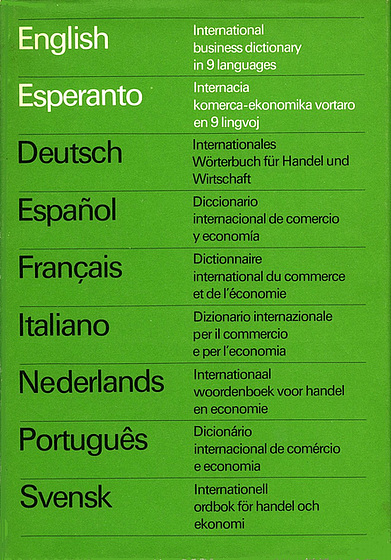 Internacia komerca-ekonomika vortaro en naŭ lingvoj