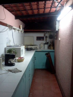 The other side of the kitchen with lots of counter space!!!