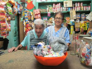 The Maria's!  2 sisters, in their 80s and 90s, who live all alone and run a small tienda to survive.  They were so blessed by the visit and the gift!