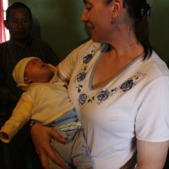 Missy got to hold babies...her favorite pass time in Guatemala