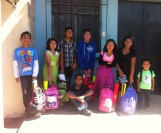 Most of the backpacks were so heavy the kids had trouble carrying them BUT they were still happy to get them!