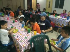 Dinner time at Celebrate Recovery