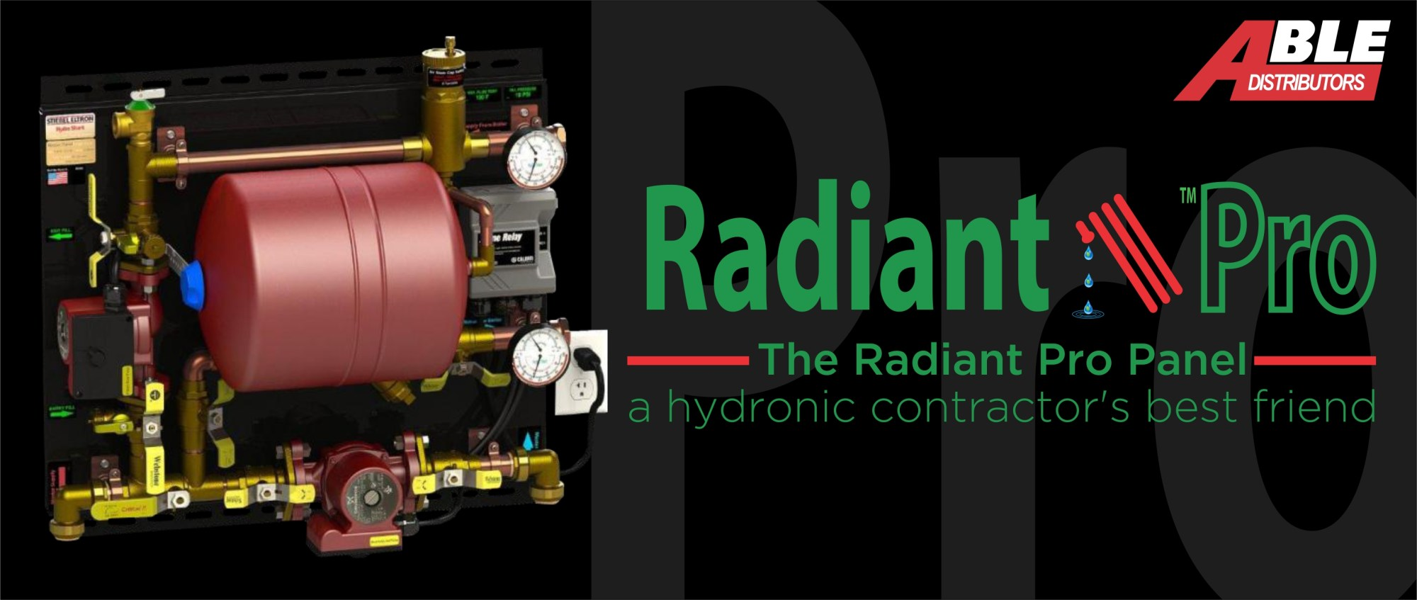 hight resolution of the radiant pro panel a hydronic contractor s best friend