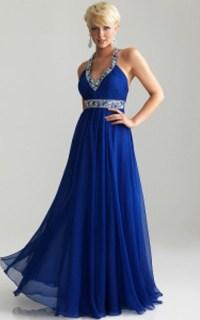 Flowy Royal Blue Prom Dress by Night Moves 6741 | StyleCaster