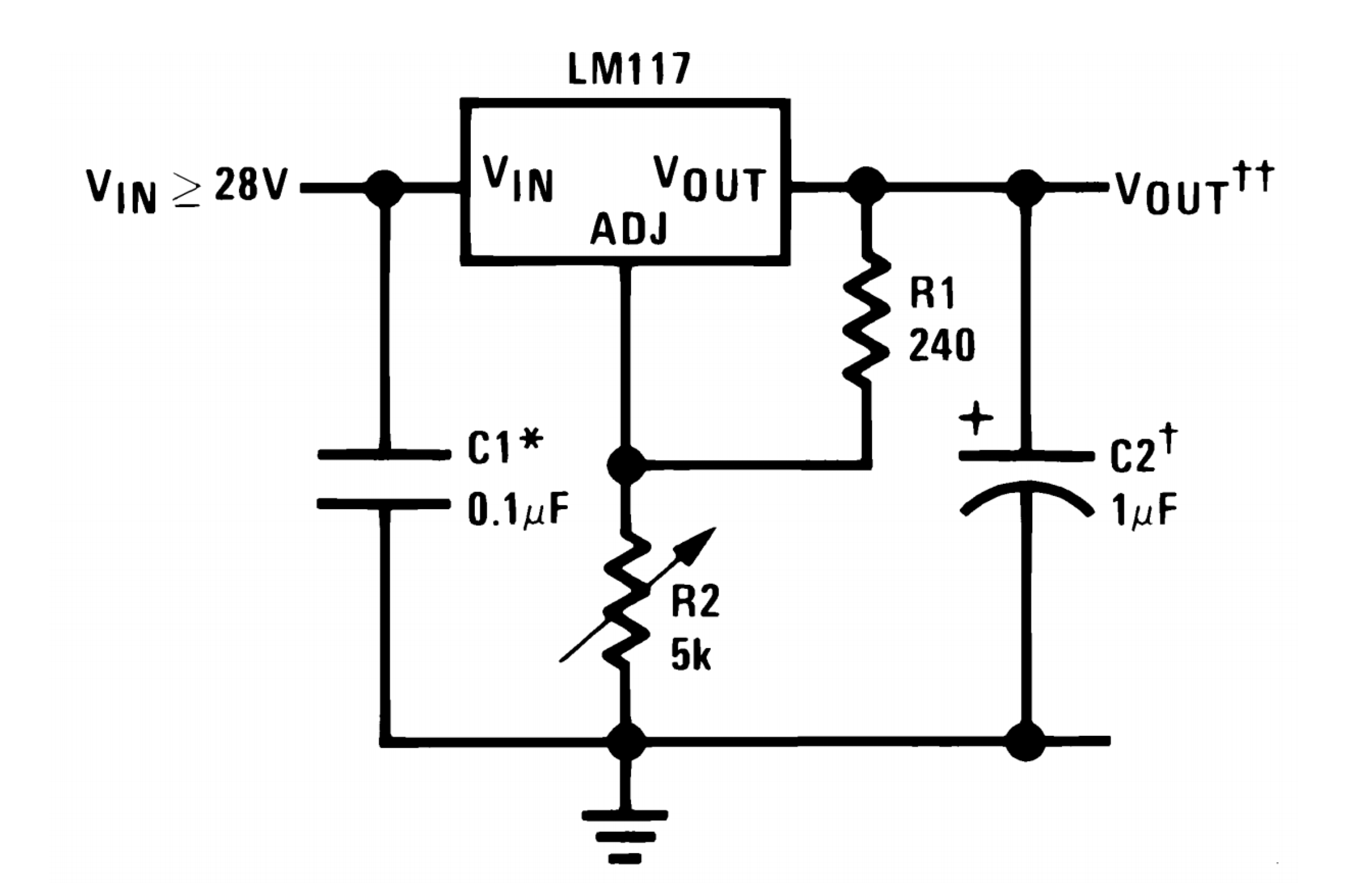 Lm317 Adjustable Power Supply Layout