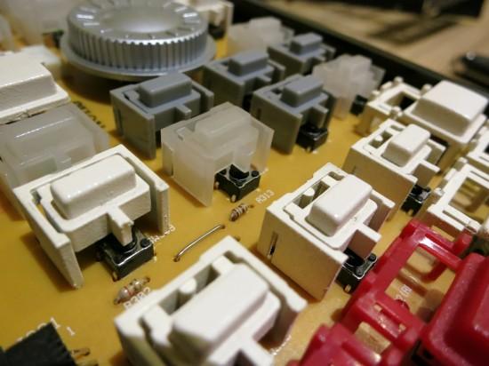 MPC button closeup