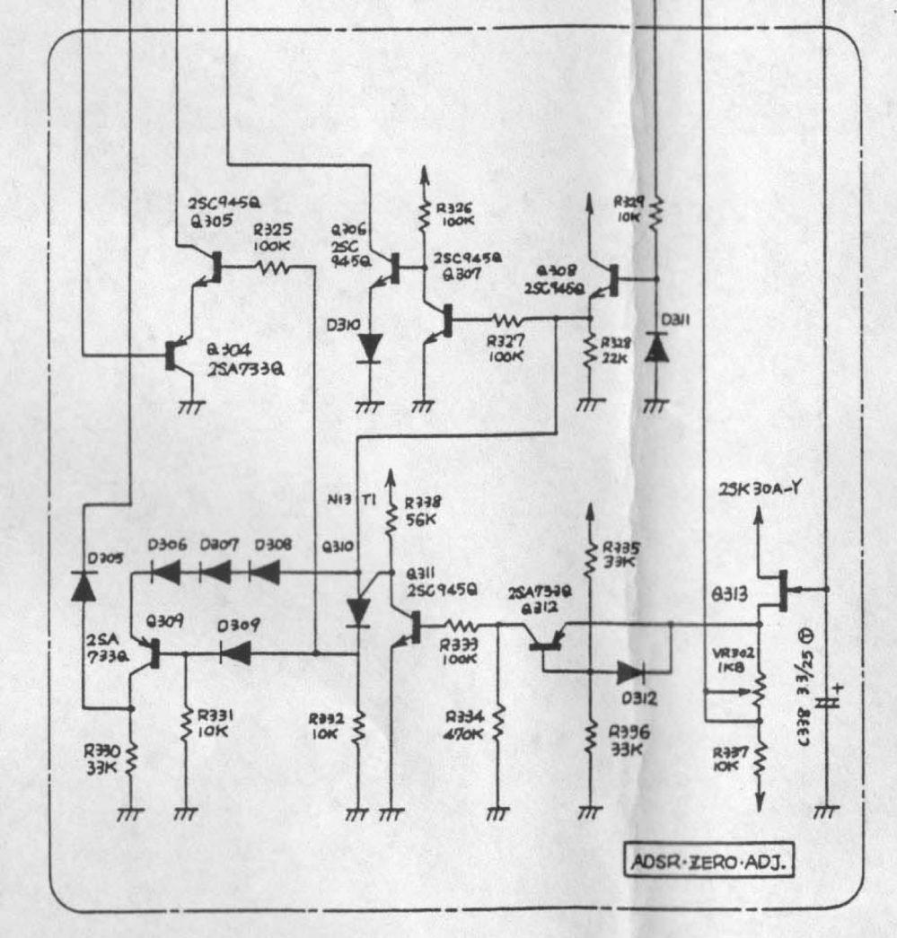 medium resolution of diy stripboard roland system 100 adsr envelope