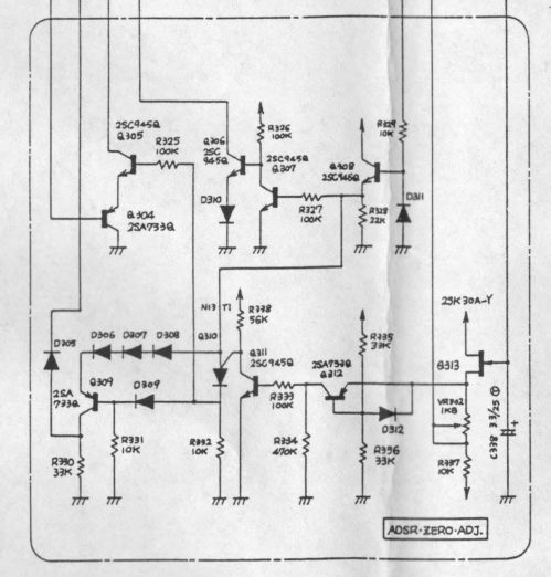 small resolution of diy stripboard roland system 100 adsr envelope