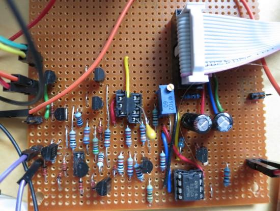 System 100 ADSR stripboard