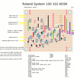 roland system 100 adsr envelope stripboard layout [ 1941 x 1419 Pixel ]