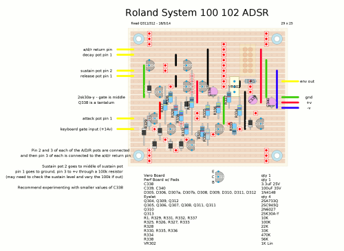 small resolution of roland system 100 adsr envelope stripboard layout