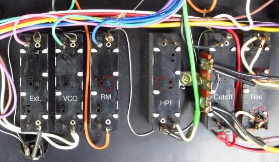System 100 VCF pot orientation