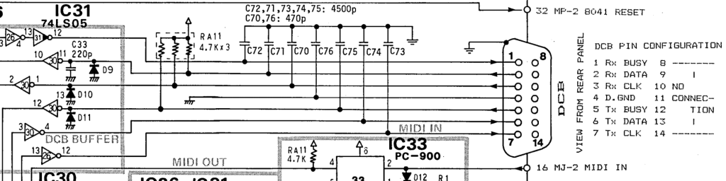 MSQ-700 schematic DCB out