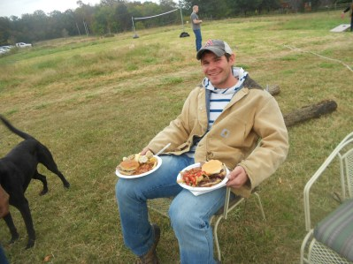 Your average starving college student. This is Joel Thompson from Springdale, Arkansas. Joel is working on his Master's Degree in Poultry Nutrition and working with Dr. Watkins on bacterial research in turkeys.