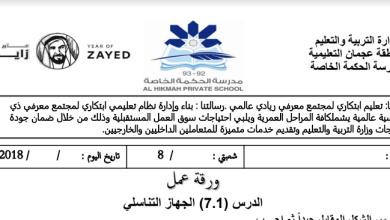 Photo of ورقة عمل علوم للصف الثامن الفصل الثاني الجهاز التناسلي الذكري