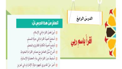 Photo of حل درس اقرأ باسم ربي تربية إسلامية صف ثامن فصل ثالث
