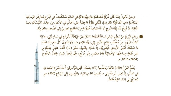 حل درس برج خليفة