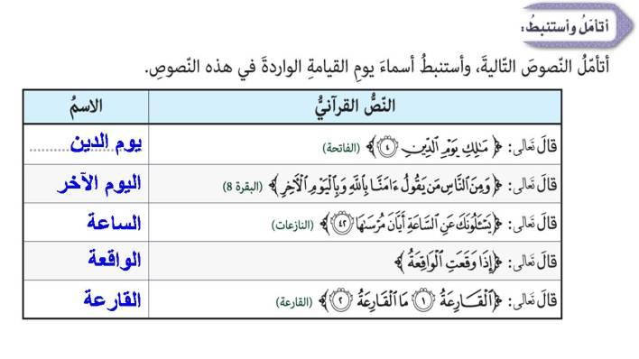 حل درس سورة الواقعة 1- 26