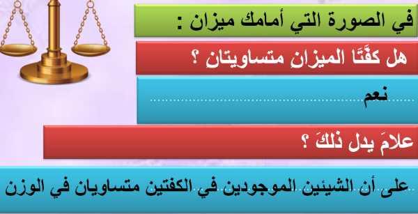حل درس الميزان الصرفي لغة عربية للصف التاسع الفصل الاول