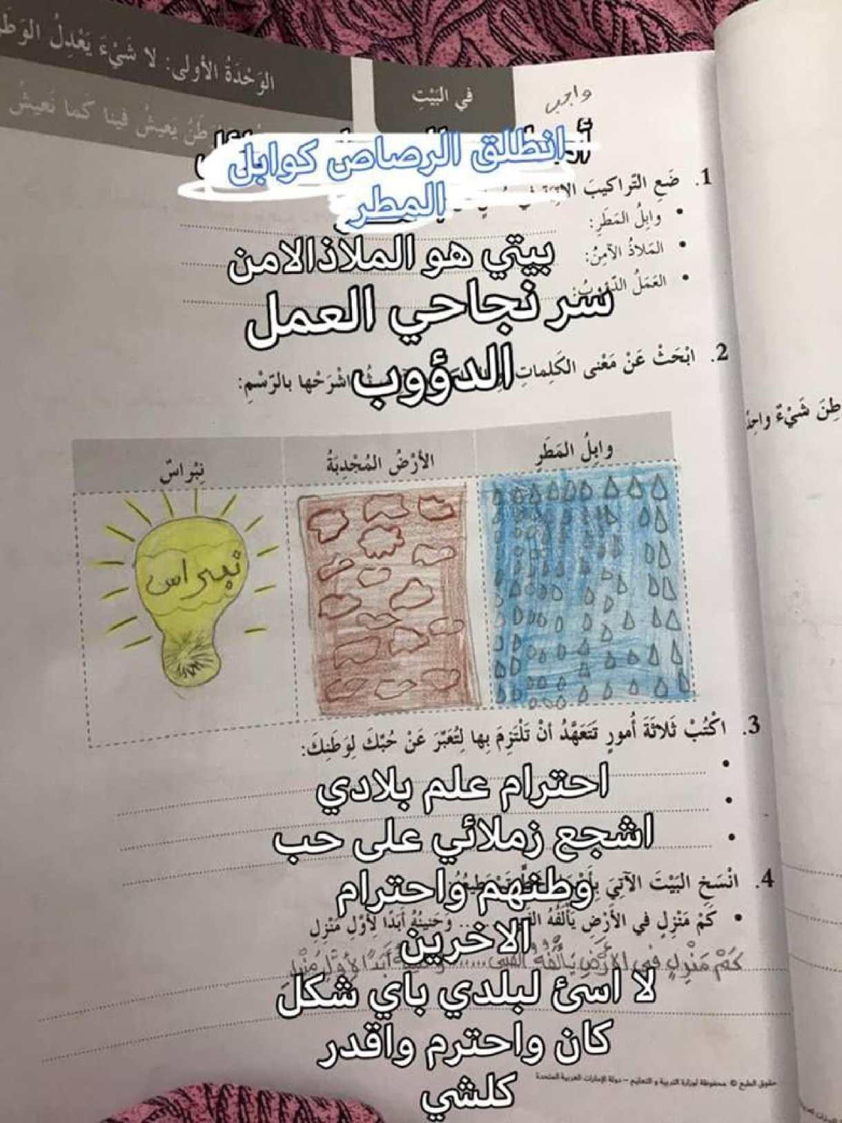 حلول الوحدة الأولى كتاب النشاط لغة عربية