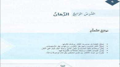 Photo of حل درس الرهان لغة عربية صف سابع فصل ثاني