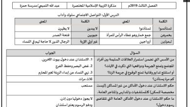 Photo of ملخص الدروس تربية إسلامية صف ثاني عشر فصل ثاني