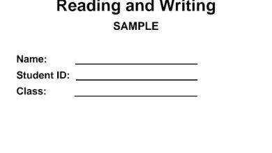 Photo of صف ثاني فصل ثاني نموذج اختبار قراءة وكتابة لغة إنجليزية