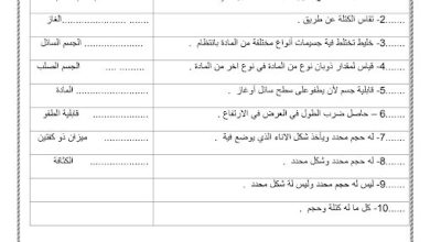 Photo of صف رابع فصل ثاني رياضيات ورق عمل درس قياس الحجوم