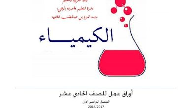 Photo of أوراق عمل الغازات كيمياء صف عاشر متقدم فصل ثاني