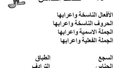 Photo of صف خامس فصل ثاني مذكرة لغة عربية مراجعة